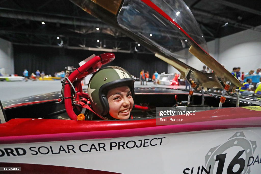 Driver Rachel Abril looks on as Sundae, the car from the United States Stanford Solar Car Project is tested during Static Scrutineering before competing in the Challenger class ahead of the 2017 Bridgestone World Solar Challenge on October 4, 2017 in Darwin, Australia. Teams from across the globe are competing in the 2017 World Solar Challenge - a 3000 km solar-powered vehicle race through the Australian Outback between Darwin and Adelaide. The race attracts teams from around the world, most of which are fielded by universities or corporations although some are fielded by high schools. The race has a 30-year history spanning thirteen races, with the inaugural event taking place in 1987. The race begins on October 8th with the first car expected to cross the finish line on October 11th.