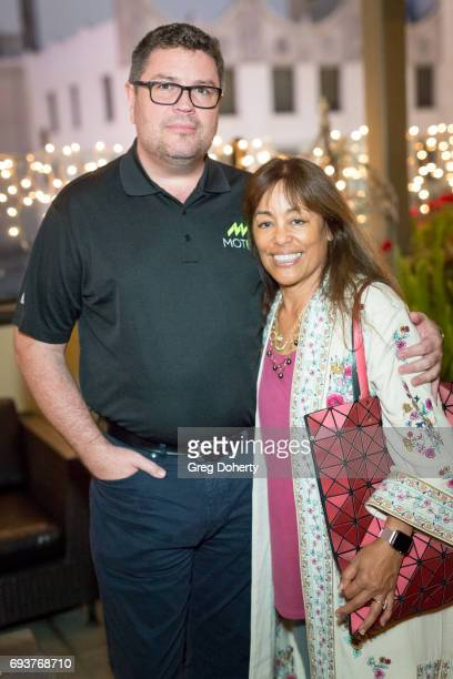 Driver Robert Gaskill and Costume Designer Cathie Valdovino attend the Landing Up World Premiere during 20th Annual Dances With Films at TCL Chinese...