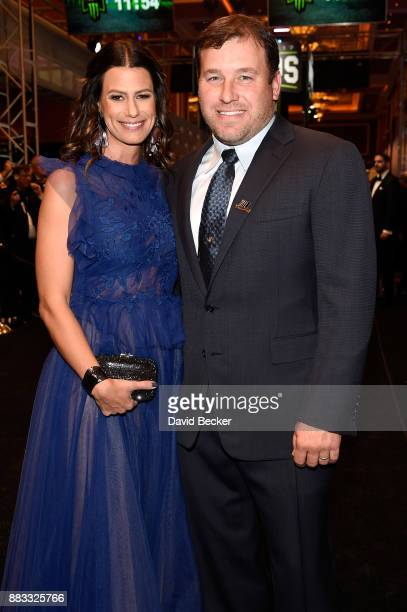NASCAR driver Ryan Newman and his wife Krissie attend the Monster Energy NASCAR Cup Series awards at Wynn Las Vegas on November 30 2017 in Las Vegas...