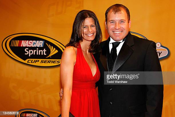 Driver Ryan Newman and wife Krissie Newman arrive prior to the NASCAR Sprint Cup Series Champion's Week Awards Ceremony at Wynn Las Vegas on December...