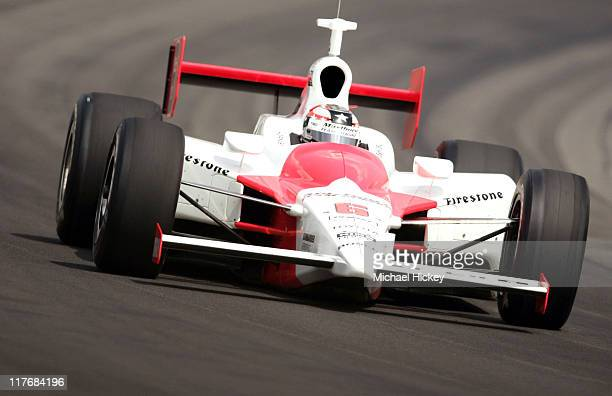 IRL driver Sam Hornish practices for the Indy 500 at the Indianapolis Motor Speedway on May 11 2005