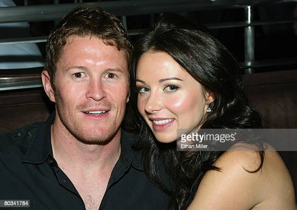 IRL driver Scott Dixon and his wife Emma Davies attend IRL driver Marco Andretti's 21st birthday party at the N9NE Steakhouse at the Palms Casino...