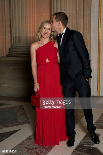 F1 driver Sebastian Vettel and his wife Hanna are photographed for Paris Match on December 2017 in Versailles