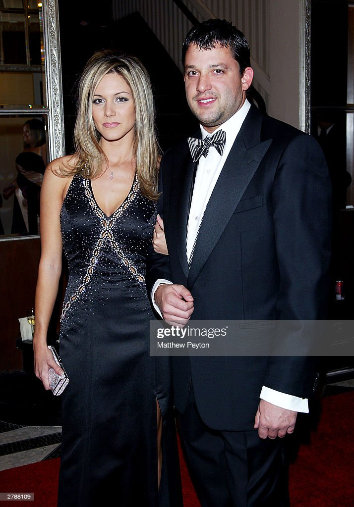 Nascar Driver Tony Stewart And Girlfriend Jamie Arrive At The 2003