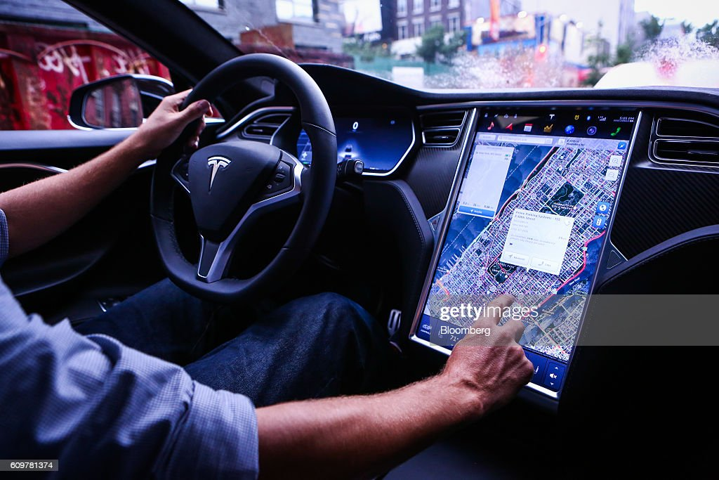 A Tesla Motors Inc. Software Update : News Photo