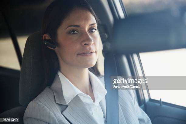 Driver Using a Cell Phone Earpiece