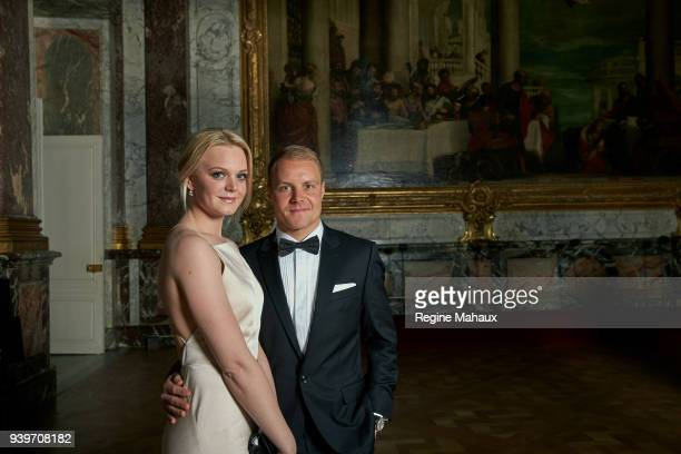 F1 driver Valtteri Bottas and his wife Emilia are photographed for Paris Match on December 2017 in Versailles France