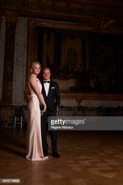 Driver Valtteri Bottas and his wife Emilia are photographed for Paris Match on December 2017 in Versailles France
