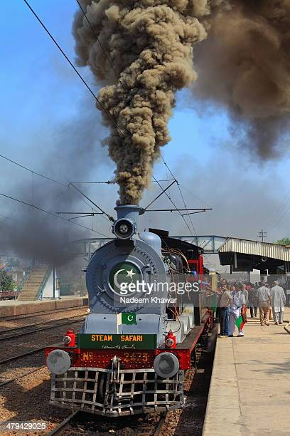 Driver warming up the steam engine at the station of Lahore Cant before leaving to Changa Manga Station. Few years before The Last steam safari was...