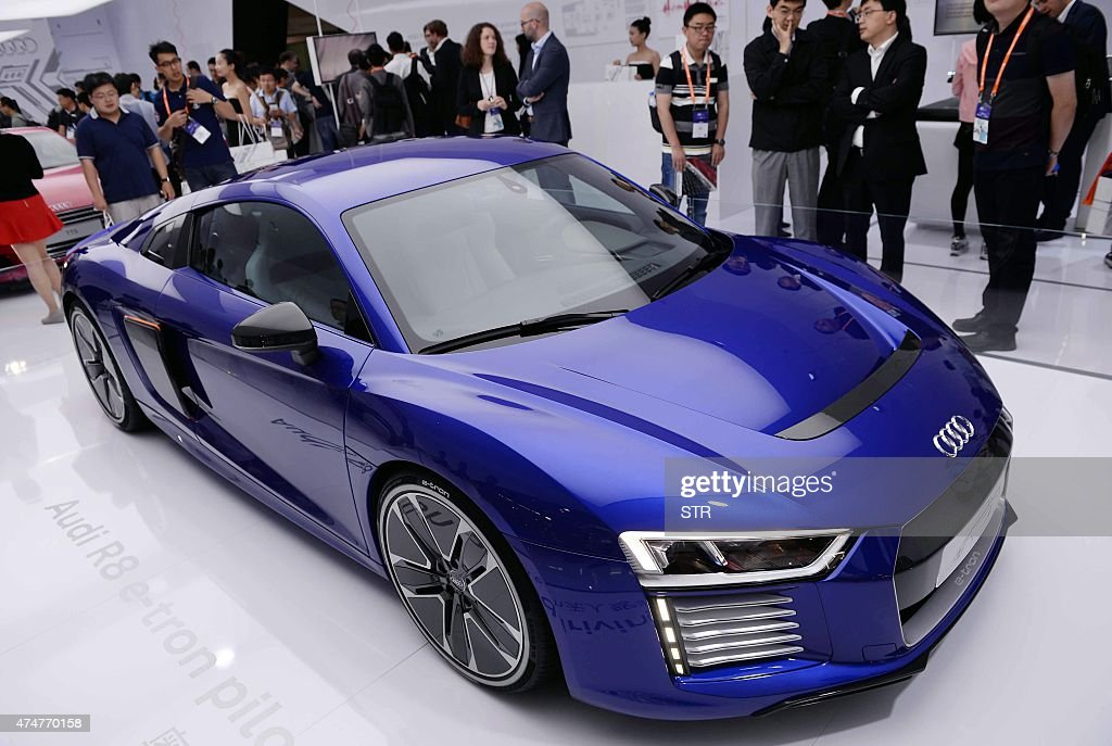 A Driverless Car From Audi Is Seen On Display During The First - Audi driverless car