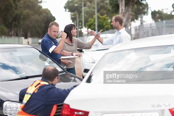 Drivers accusing each other at scene of car accident