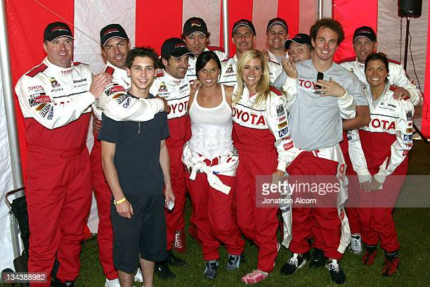 Drivers at practice preparing for the upcoming 2005 Toyota Pro/Celebrity Race at the Toyota Grand Prix of Long Beach California on March 29 2005 The...