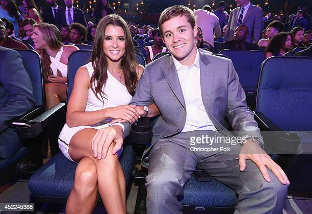 NASCAR drivers Danica Patrick and Ricky Stenhouse Jr attend The 2014 ESPYS at Nokia Theatre LA Live on July 16 2014 in Los Angeles California