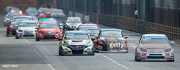 Drivers in actuion during the FIA World Touring Car Championship as part of the 60th Macau Grand Prix on November 17 2013 in Macau Macau