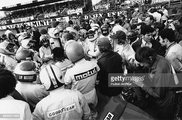Drivers including Jean Pierre Beltoise Jo Siffert Pedro Rodriguez Ulf Norinder Emerson Fittipaldi Jackie Stewart Tim Schenken Henri Pescarolo Mike...