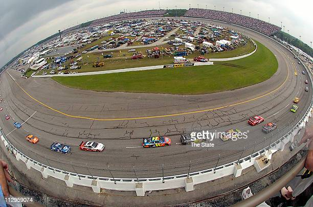 Drivers navigate a turn during the Dodge Avenger 500 at Darlington Raceway in Darlington, South Carolina, Sunday, May 13, 2007. Jeff Gordon finished...