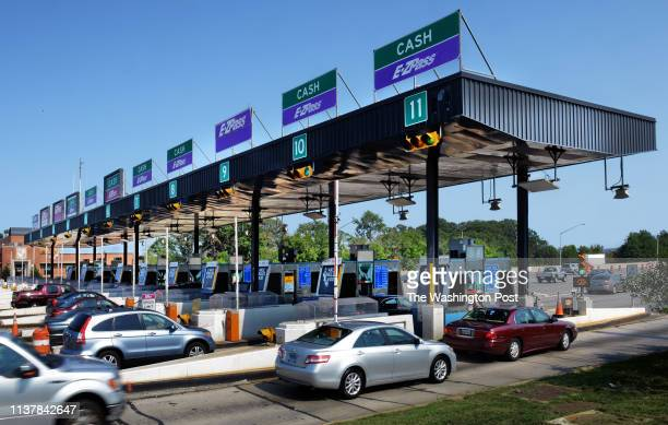 Drivers pass through toll booths at the Bay Bridge on August 2012 in Annapolis MD The MTA is looking for a solution to the loss of revenue due to...