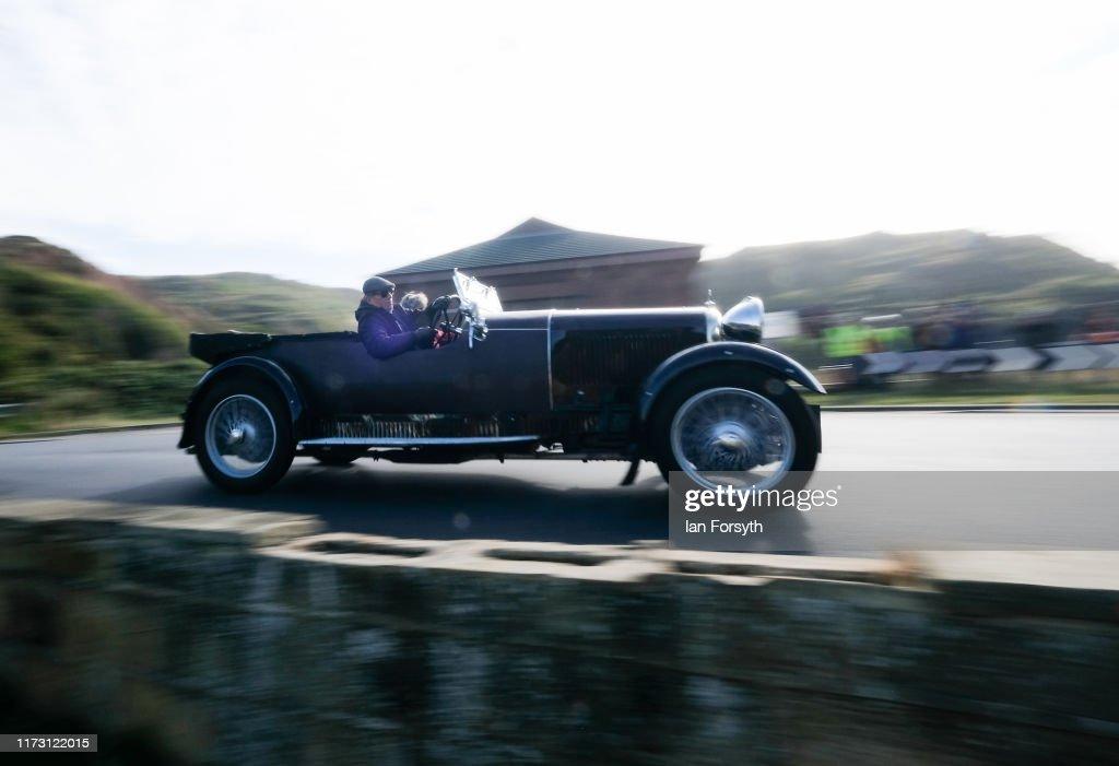 Motoring Enthusiasts Attend Saltburn Hill Climb Event : News Photo