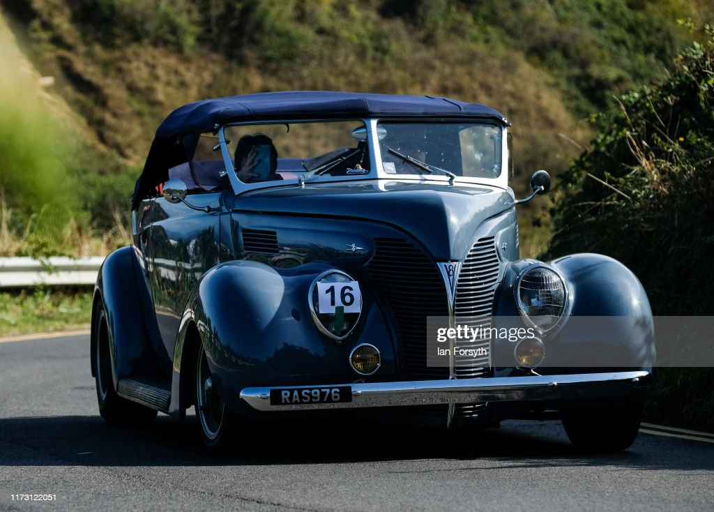 Motoring Enthusiasts Attend Saltburn Hill Climb Event : News Photo