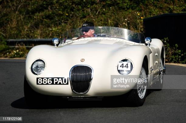Drivers take part in the Saltburn Hill Climb event on September 08 2019 in SaltburnbytheSea England Organised by Middlesbrough and District Motor...
