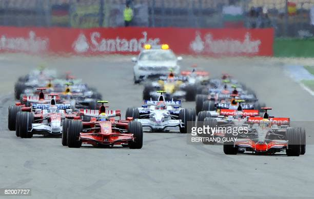 Drivers take the start of the German Formula One Grand Prix at the Hockenheim ring racetrack on July 20 2008 in Hockenheim AFP PHOTO / Bertrand Guay