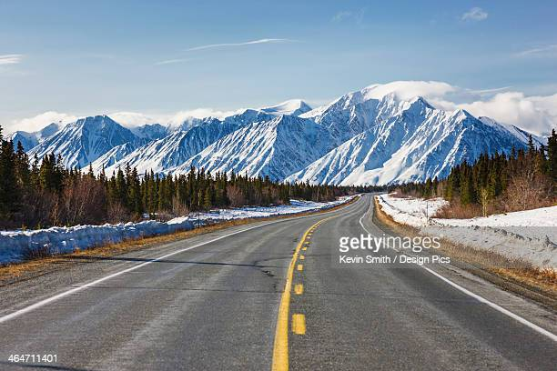 Driver's view of the alaska highway southwest of kluane lake
