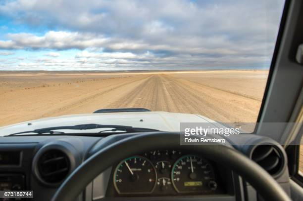 Driver's view of the Skeleton Coast