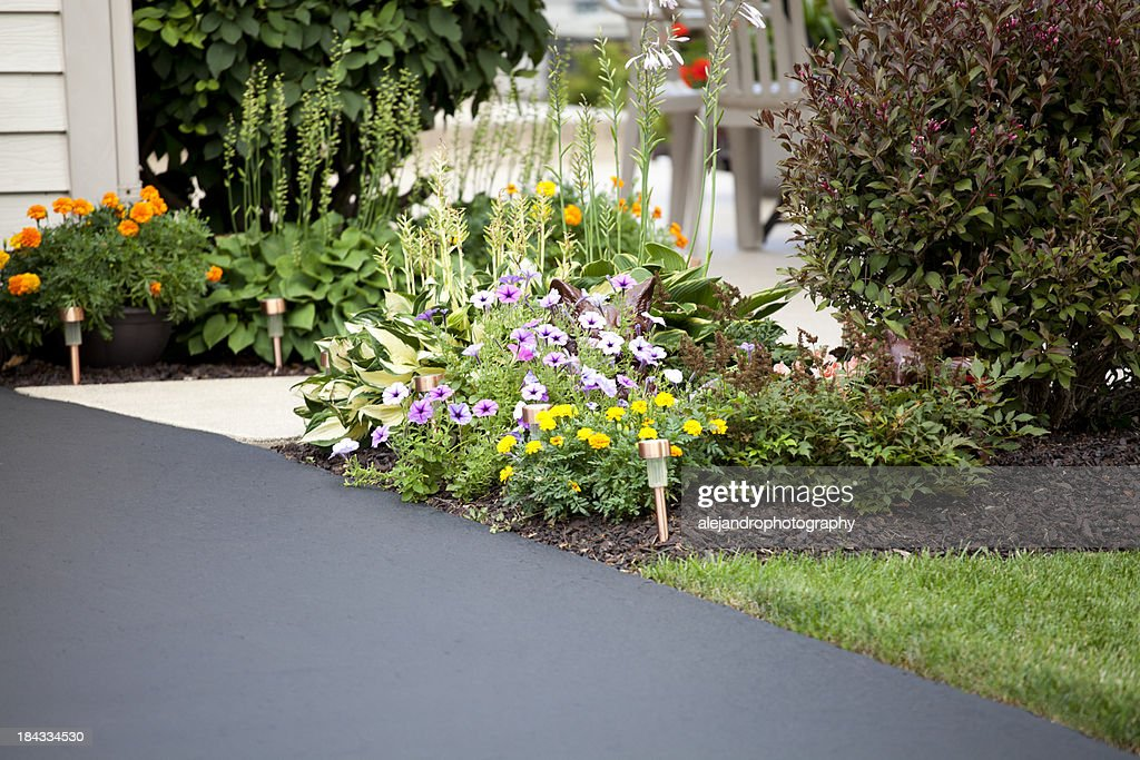 Driveway and entryway : Stock Photo