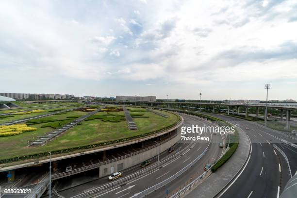 Driveway in front of Terminal 3 of Beijing Capital International Airport According to China CAAC China will build three worldclass airport clusters...