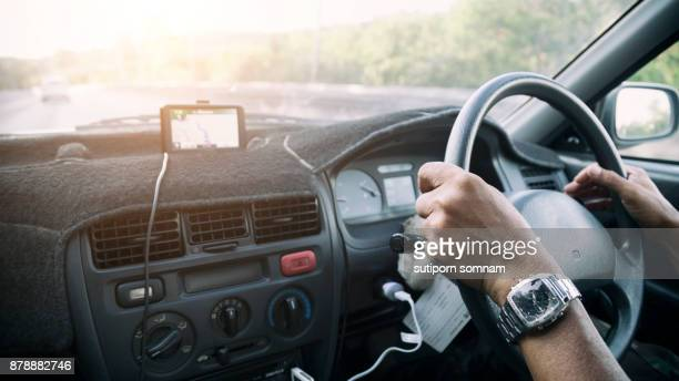 Driving a car and having a GPS