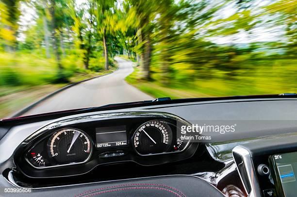 Driving a car, POV