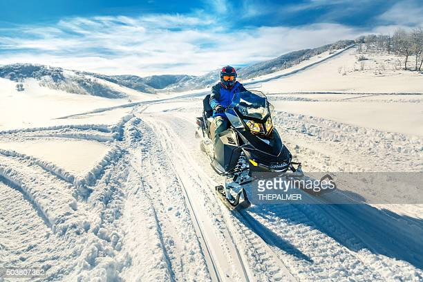 Driving a snowmobile
