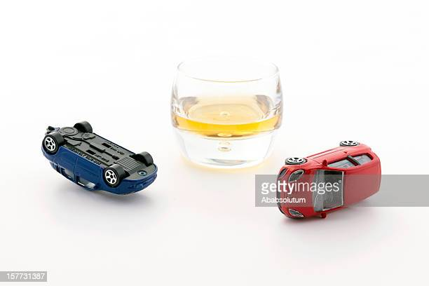 Driving and Drinking Concept