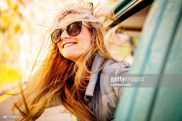 Driving and feeling the wind