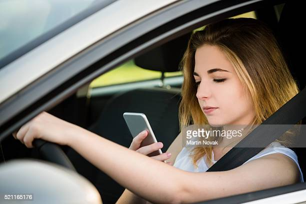 Driving and using phone