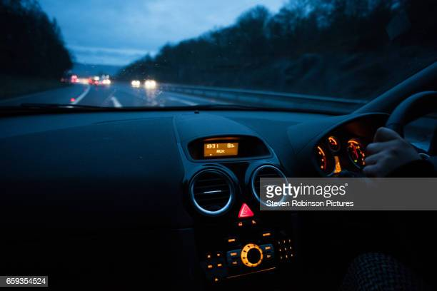 driving at night - driver stock photos and pictures