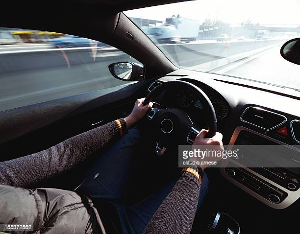 Driving car. Color Image