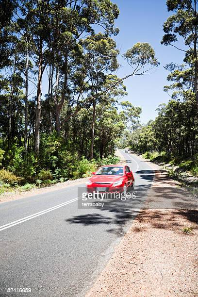 driving car on country road - country road stock pictures, royalty-free photos & images