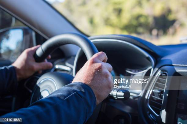 driving car. - steering wheel stock pictures, royalty-free photos & images