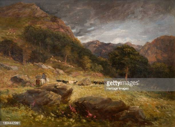 Driving Cattle, 1849. Artist David Cox the elder.