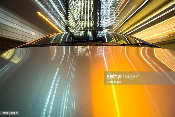 Driving city at night.