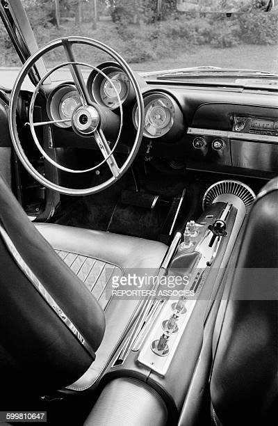 Driving Controls of The Chrysler Turbine A Gas Turbine Powered Car in France in September 1963