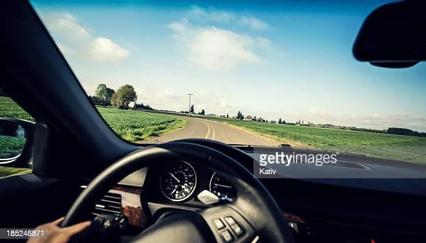 運転の田園地帯 - 取っ手 ストックフォトと画像