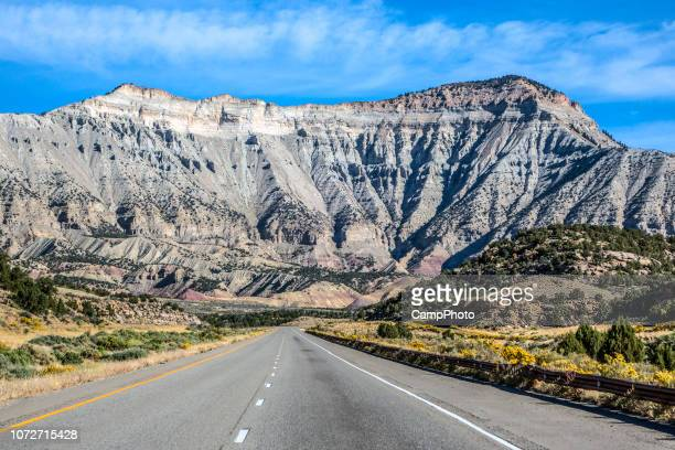 driving east in western colorado - interstate 70 stock photos and pictures