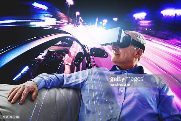 driving experience with the virtual reality simulator - domestic car stock pictures, royalty-free photos & images