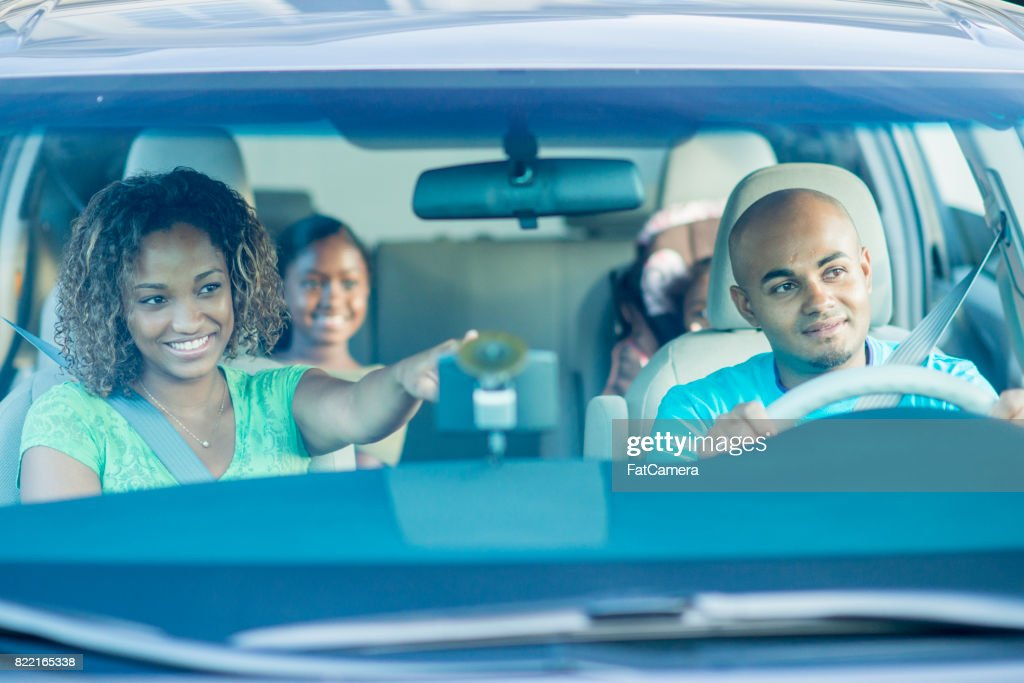 Driving In A Van : Stock Photo