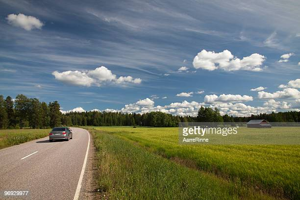 Driving in Finland's countryside