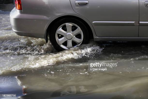 Driving in flood water