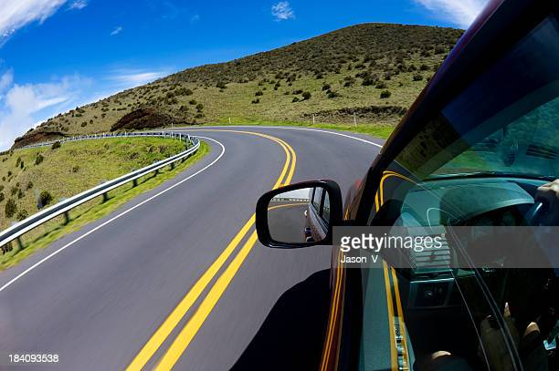 driving in hawaii - hawaii islands stock pictures, royalty-free photos & images