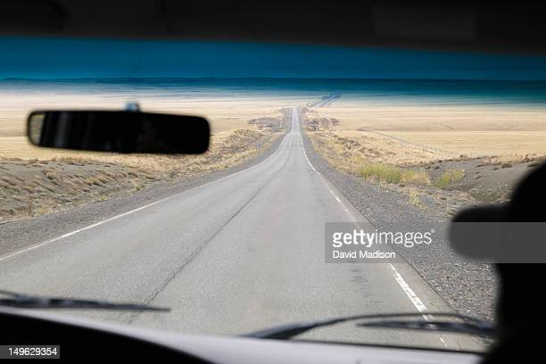 Driving in Patagonia, Argentina.